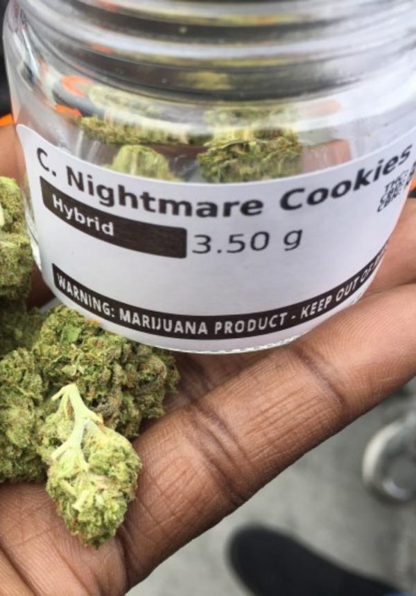 nightmare cookies, white nightmare strain